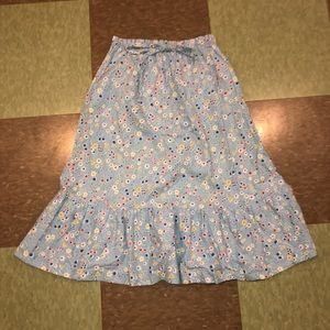 Anthro floral tulip daisy fit flare skirt xs